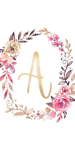 Обои на телефон буквы, цветочные, monogram, a floral wreath