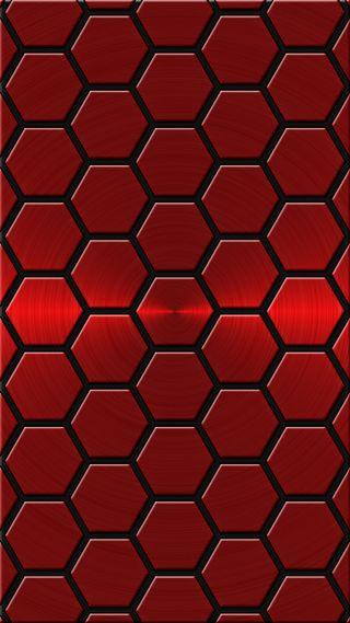 Обои на телефон x3mcx, red poly bg, черные, красые, блестящие, многоугольник, поли