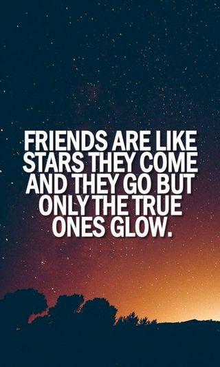 Обои на телефон светящиеся, правда, лайк, звезды, друзья, go