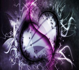 Обои на телефон изображение, фиолетовые, сердце, приятные, прекрасные, дизайн, абстрактные, good