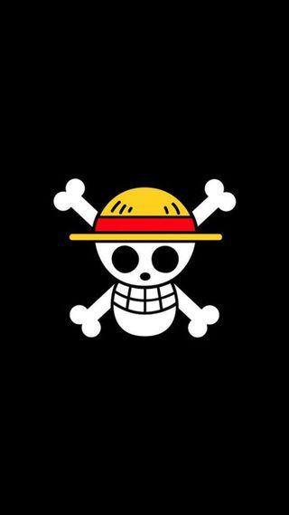 Обои на телефон шляпа, пираты, черные, логотипы, straw hat