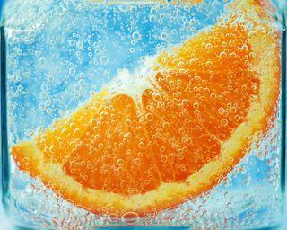 Обои на телефон фрукты, пузыри, природа, оранжевые, вода, брызги, абстрактные, juicy, hd