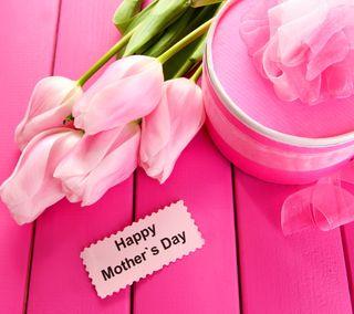 Обои на телефон 8 march, beautiful tulips, womans day, розовые, прекрасные, день, тюльпаны, празднование, мама, матери, март