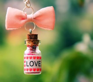 Обои на телефон бутылка, сердце, любовь, pendant, love