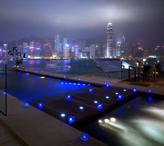 Обои на телефон роскошные, ночь, город, бесконечность, pool, luxury, luxe, infinity pools