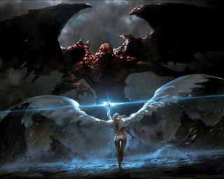 Обои на телефон финал, бой, ангел, the final battle