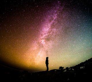 Обои на телефон одинокий, одиночество, небо, крошечный, звезда