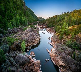 Обои на телефон река, приятные, прекрасные, милые, горы, взгляд, river mountains