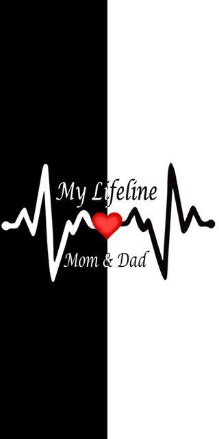 Обои на телефон ты, отец, мама, любовь, mom and dad, missing, love, i love you