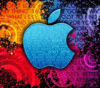 Обои на телефон яркие, икона, эпл, символ, логотипы, красочные, высказывания, айфон, абстрактные, iphone, hd, apple, abstract apple logo