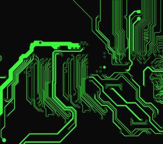 Обои на телефон микросхема, компьютер, светящиеся, абстрактные