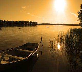 Обои на телефон лодки, пляж, небо, лучи, золотые, закат, вечер, oceanwaves, hd, 2013