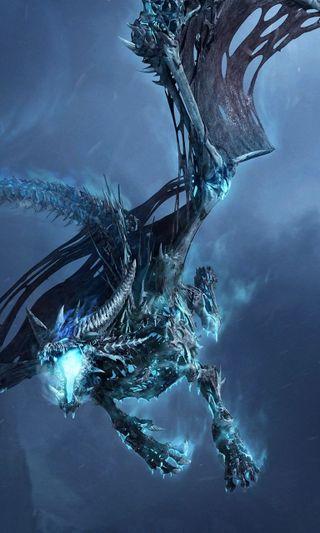 Обои на телефон синие, игра, дракон, wow, dragon, 2013