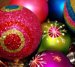 Обои на телефон яркие, шары, украшения, рождество, абстрактные, bright christmas