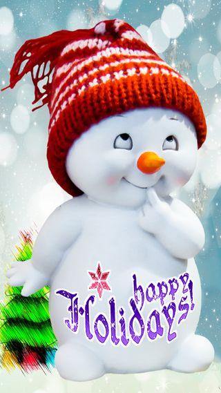 Обои на телефон текст, ты, счастливые, снеговик, рождество, новый, надпись, каникулы, happy holidays you