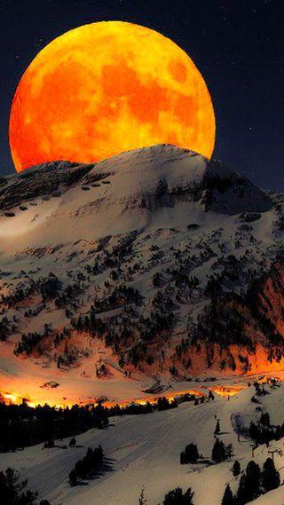 Обои на телефон романтика, луна, romantic full moon