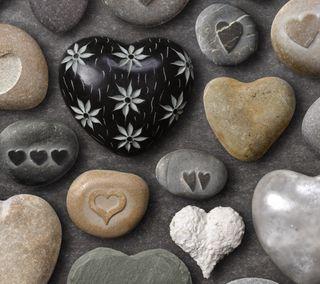 Обои на телефон камни, сердце, heart stones, 2160x1920