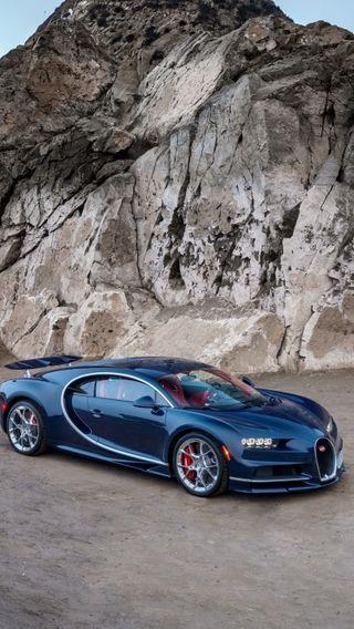 Обои на телефон bugatti chiron, синие, машины, супер, бугатти, чирон
