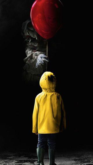 Обои на телефон шары, развлечения, фильмы, оно, малыш, клоун, кино, it movie