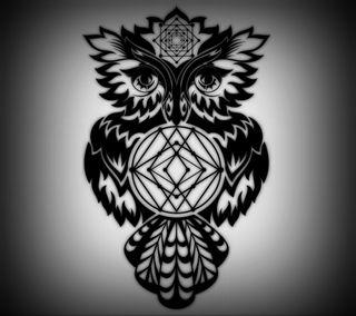 Обои на телефон птицы, темные, сова, векторные, арт, art