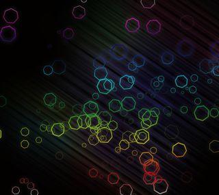 Обои на телефон геометрия, формы, радуга, линии, heptagons, heptagon