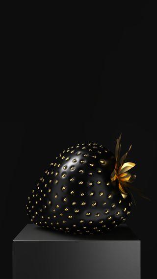 Обои на телефон фрукты, черные, новый, клубника, золотые, 4k