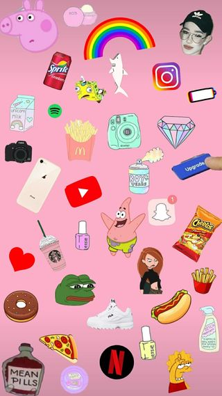 Обои на телефон эстетические, счастливые, супер, случайные, розовые, любовь, коллаж, жизнь, друзья, вселенная, время, pink aesthetic, love, happy, 2005