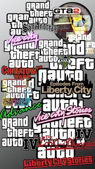 Обои на телефон великий, ряд, логотипы, игры, гта, авто, gta series