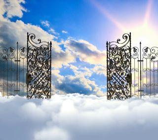 Обои на телефон небеса, облака, небо, бог