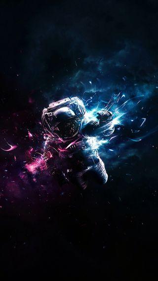 Обои на телефон космонавт, космос, astronaute