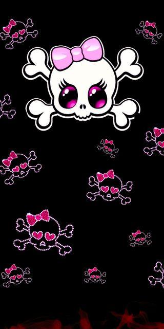 Обои на телефон сахар, череп, счастливые, розовые, любовь, pink skull, love, happy