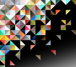 Обои на телефон формы, треугольник, шаблон, абстрактные, triangular
