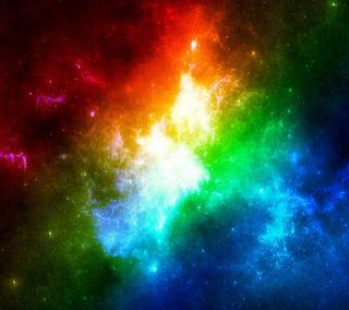 Обои на телефон эффект, цветные, свет, радуга, sv1991