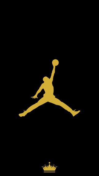Обои на телефон баскетбол, черные, простые, золотые, джордан, jordan gold
