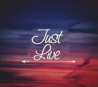 Обои на телефон знаки, цитата, просто, приятные, поговорка, новый, крутые, жизнь, live, just live