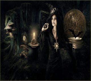 Обои на телефон ведьма, хэллоуин