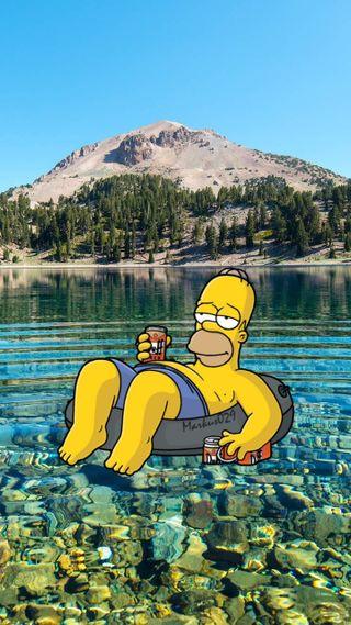 Обои на телефон лиза, симпсоны, природа, гомер, барт, the simpson, los simpson, lago