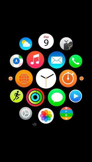 Обои на телефон айфон 6, черные, стиль, iwatch style black, iwatch