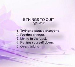 Обои на телефон прошлое, позитивные, поговорка, дела, вдохновляющие, quit, 5 things to quit
