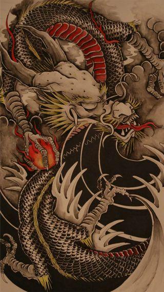Обои на телефон темные, металл, картина, души, дракон, волк, swag, dragon