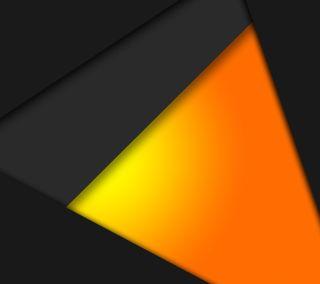 Обои на телефон черные, плоские, оранжевые, материал, дизайн, андроид, material 7 orange, lollipop, android