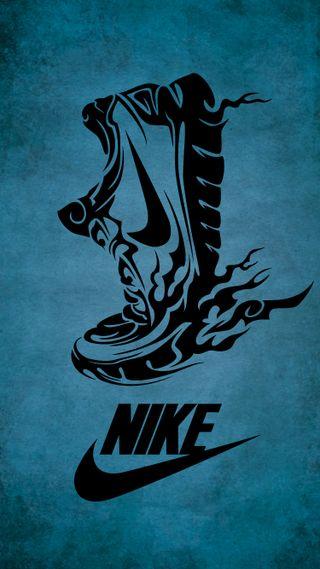 Обои на телефон племенные, черные, тату, спорт, синие, обувь, найк, sneaker, nike