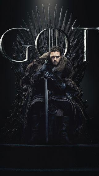 Обои на телефон престолы, снег, север, рыцарь, король, клинок, игра, jon