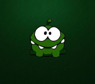 Обои на телефон ом, зеленые, веревка, om nom, cut the rope