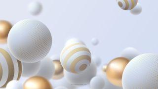 Обои на телефон точки, шары, золотые, белые, white balls, hd