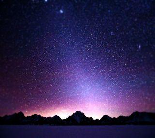 Обои на телефон боке, фиолетовые, свет, прекрасные, ночь, небо, луч, звезды, звезда, горы, purple sky stars, hd