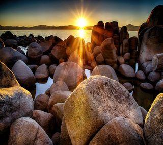 Обои на телефон взгляд, приятные, озеро, закат, sunset on lake