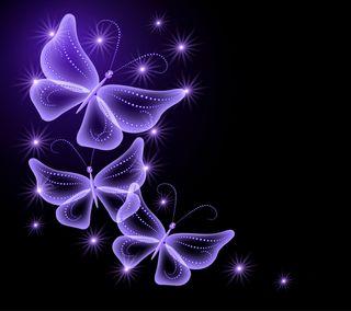 Обои на телефон сверкающие, прекрасные, неоновые, бабочки, neon butterflies