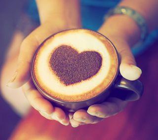 Обои на телефон чашка, ты, сердце, руки, напиток, любовь, кофе, love, cup, coffe with love