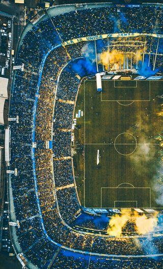 Обои на телефон футбол, стадион, бока, la bombonera